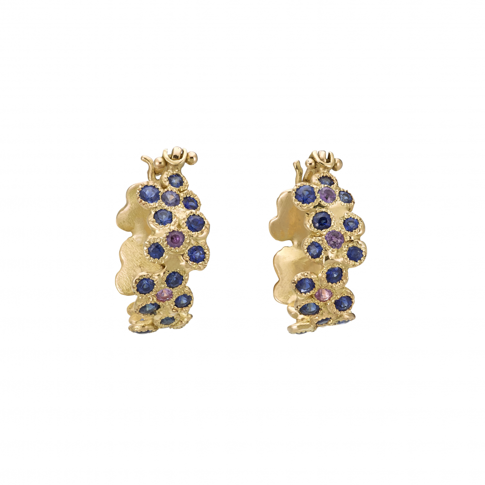 Forget me not bouquet earrings