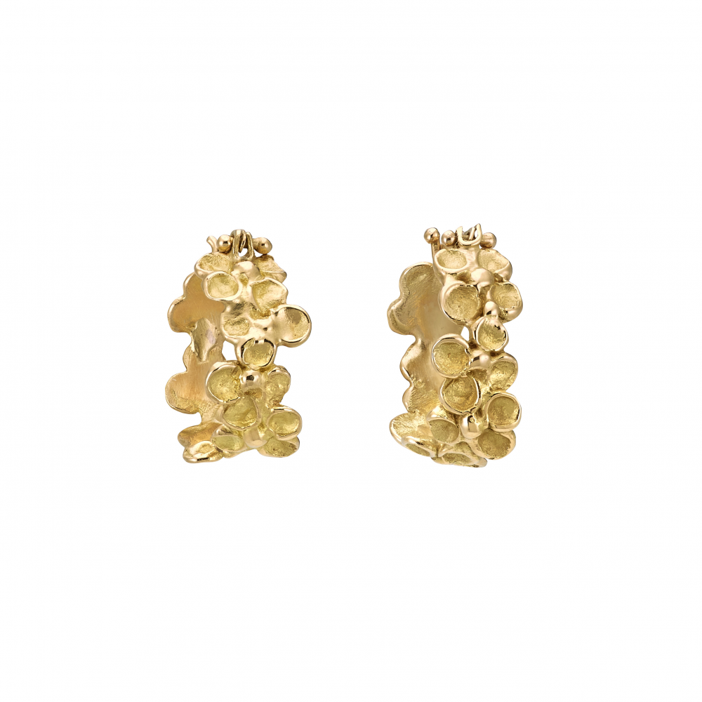 Anais Rheiner boucles d'oreilles Bouquets fleuris