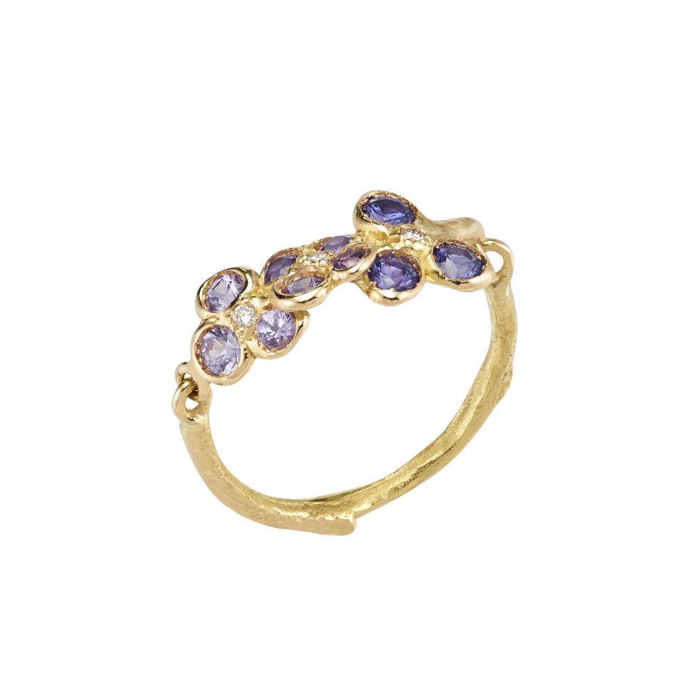 Lavender field ring