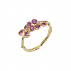 Pink lavender field ring