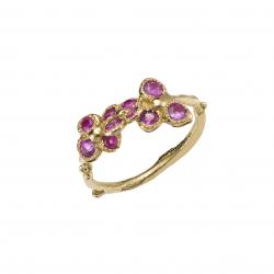 Pink lavender field ring