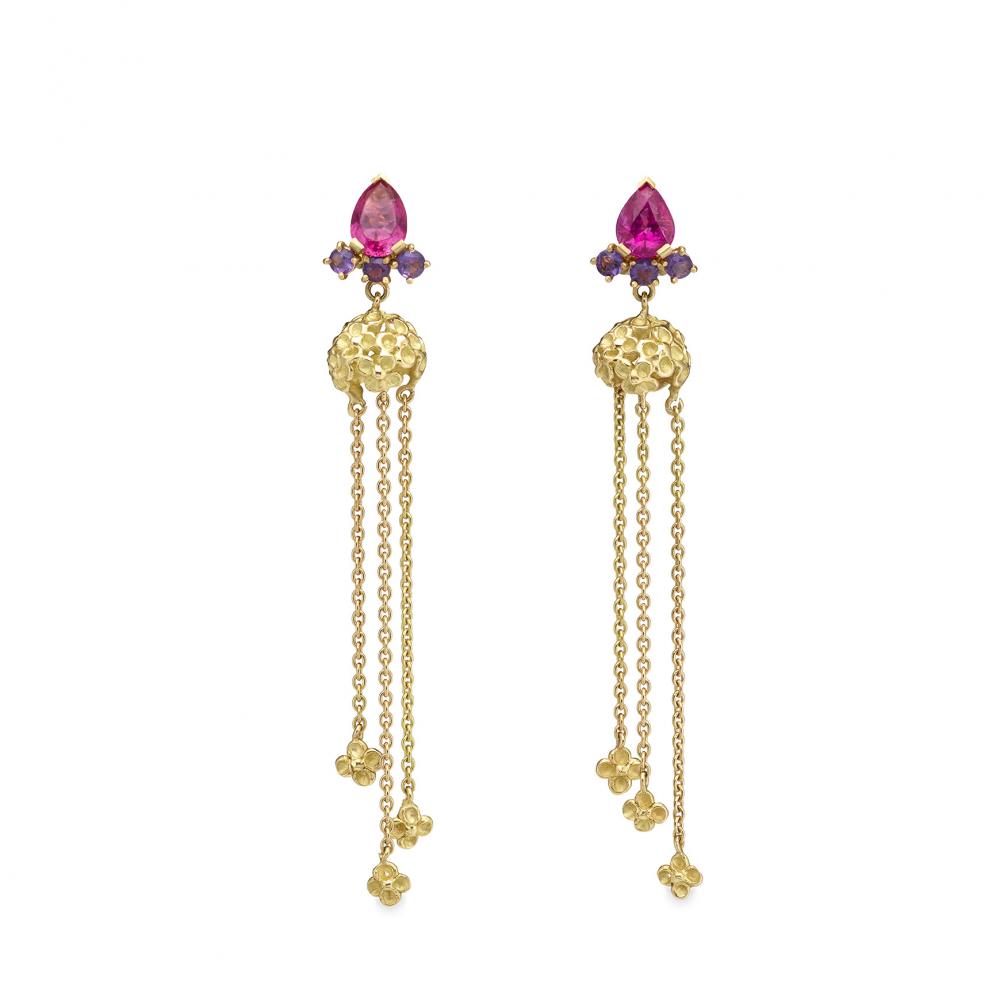 Colourful garden earrings