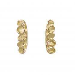 Boucles d'oreilles Feuillage d'or