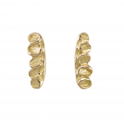 Gold foliage earrings