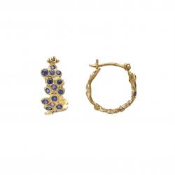 Anais Rheiner Boucles d'oreilles or jaune 18 carat saphires