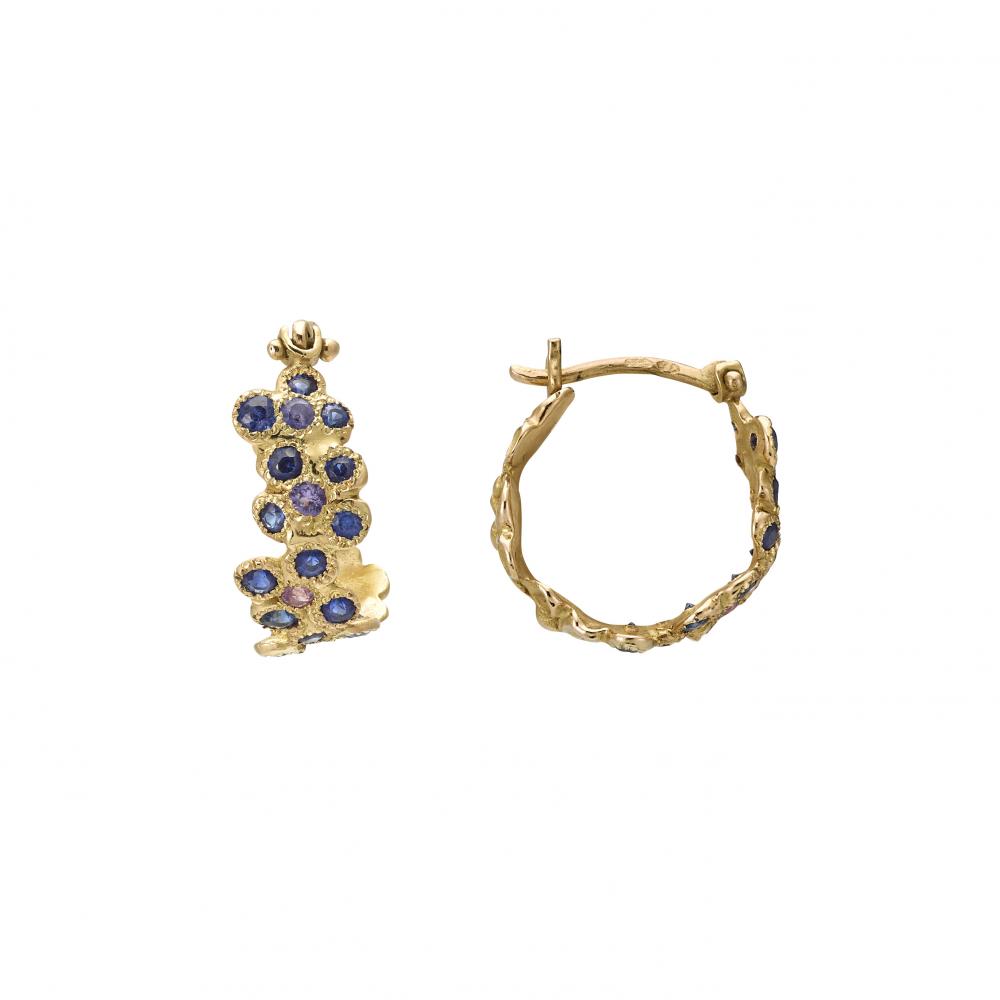 Anais Rheiner Boucles d'oreilles or jaune 18 carat saphirs