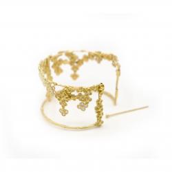 Anais Rheiner 18 carat yellow gold Mysterious garden bracelet and diamonds