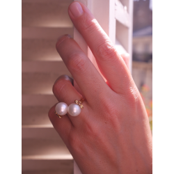 Pearls of snow ring