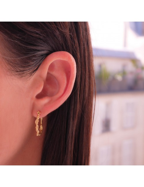 Anais Rheiner Boucles d'oreilles or jaune 18 carat