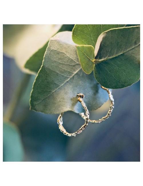 Gold foliage earrings