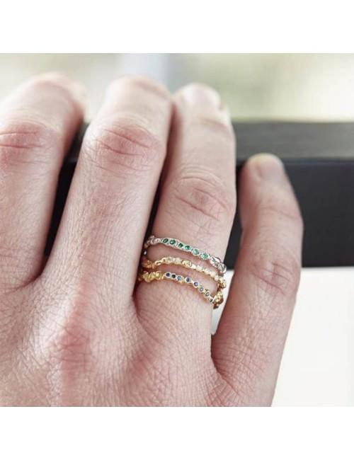 Anais Rheiner gold ring orange saphires