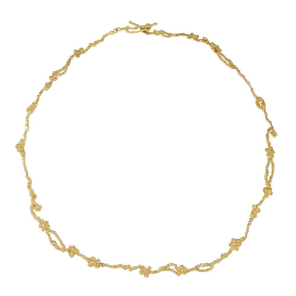 Anais Rheiner 18 carat yellow gold necklace