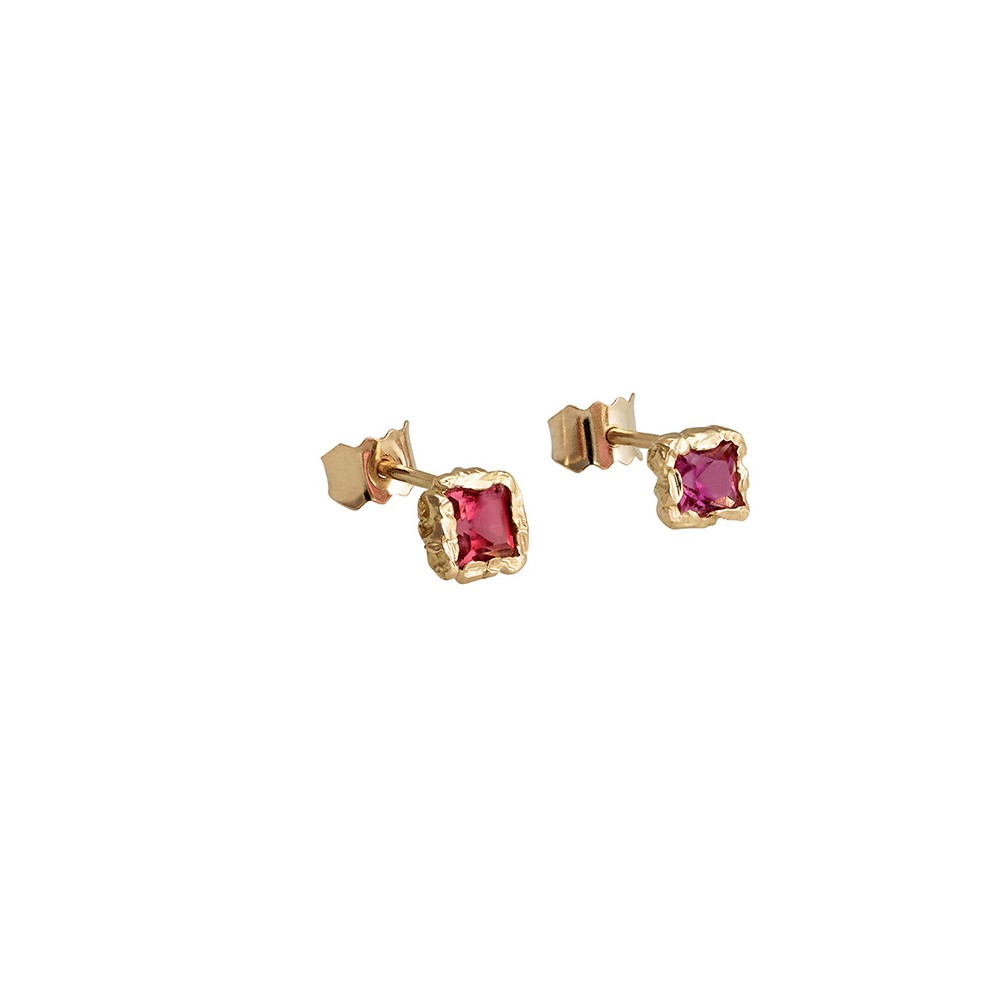 Anais Rheiner healers collection earrings 18K and pink Tourmaline