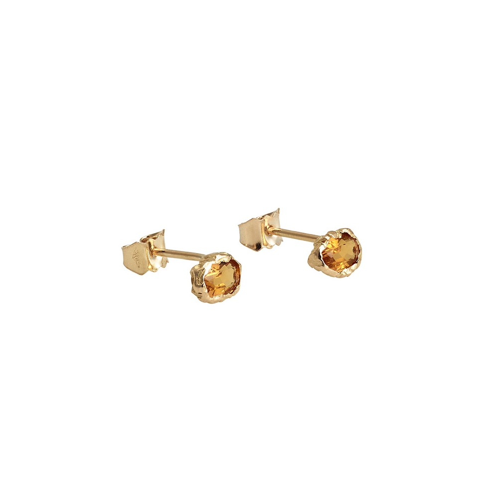 Anais Rheiner healers collection earrings 18K and citrines