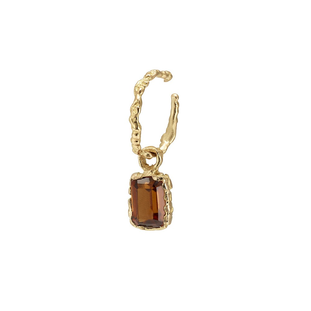 Anais Rheiner healers collection earrings 18K and spessartite