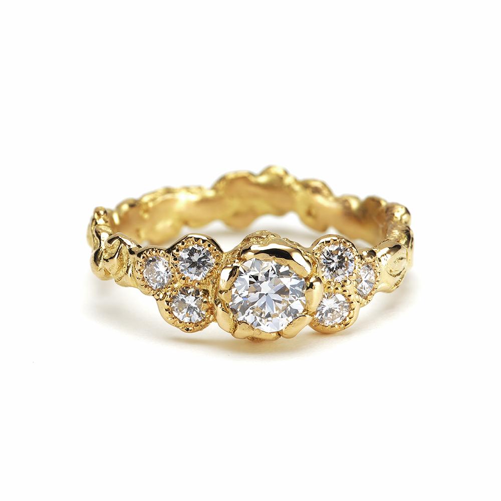 Anais Rheiner Bague Ambroisie or jaune 18 carat et diamants
